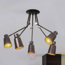 Deckenlampe In Dunklem Braun 5fl Kaufen Lampenweltde