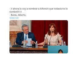 """Basta, Alberto"""": el gesto de CFK tras el cruce del Presidente con Fernando  Iglesias generó una ola de memes - Centro de Informes"""