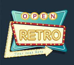 Signboard Template Retro Signboard Template Neon Light Arrow Decoration Vectors Stock