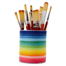 paint brushes. hand made modern - 6ct med/lg paint brush set brushes a