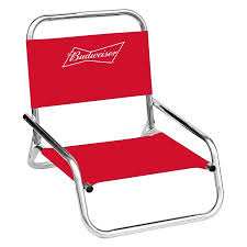 folding beach chairs. Budweiser One Position Folding Beach Chair Chairs