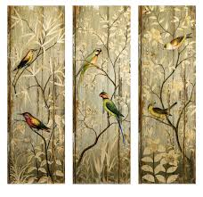 wood panel wall art e2 80 94 crafthubs painted birds roses rustic decor set 3 panels 42 on rustic wood panel wall art with wood panel wall art e2 80 94 crafthubs painted birds roses rustic