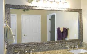 Frameless Mirror For Bathroom Bathroom Elegant Bathroom Decor With Large Framed Bathroom
