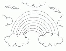 Small Picture Blank Rainbow Coloring Page Coloring Home