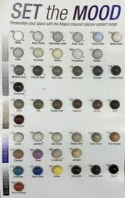 Mapesil Sealant Colour Chart Mapei Mapesil Ac Silicone Sealant 310ml All Colours