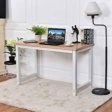 White work desk Writing Desk Image Unavailable Amazoncom Amazoncom Chefjoy Computer Desk Pc Laptop Table Wood Workstation