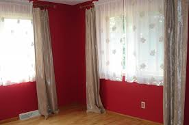 Impressive Red Curtains In Bedroom With Additional Living Room Red Curtain Ideas For Living Room