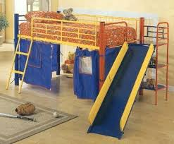 loft with slide. metal loft bed with slide beds and tent