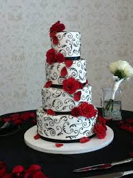 impressive designs red black. Impressive Ideas Red Black And White Wedding Cakes Marvellous Within Cake Designs