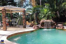 in ground pools with waterfalls. Brilliant Pools Pool Waterfall  Throughout In Ground Pools With Waterfalls