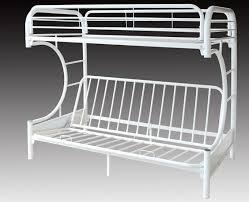 metal bunk bed futon. C FUTON METAL BUNK BED FRAME - WHITE Metal Bunk Bed Futon U
