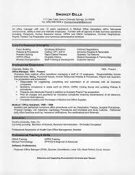 Medical Office Resume New Medical Assistant Job Description Resume ...