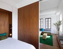 Loft Bedroom Privacy Loft Studio Apartment In New York City With Sliding Wooden Doors