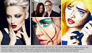 toronto beauty reviews bmc makeup artistry graduate blair petty pg 39 s artist of the year