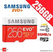samsung 256gb micro sd. samsung 256gb evo plus micro sd sdxc card class 10 95mb/s uhs-i u3 4k ultra hd smartphone tablet 256gb sd e