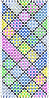 Heart Friendship Bracelet Pattern Custom Design