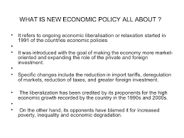 what is new economic policy all about