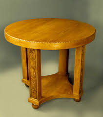 art deco oak round table special offer