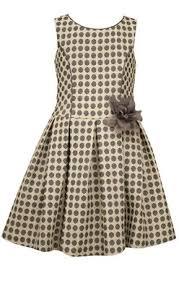 Bonnie Jean Black And White Jacquard Drop Waist Dress By
