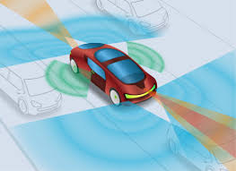 part 2 impact of adas on wire harness design mentor automotive blog Transport Wire Harness graphic depicting zones around a vehicle monitored by various adas technologies Wire Harness Manufacturers