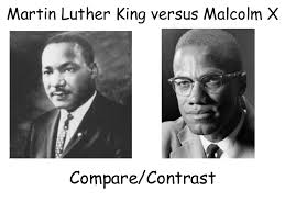 Differences Between Mlk And Malcolm X Venn Diagram M L King Vs Malcolm X
