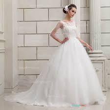 a line feminine lace patterns organza wedding dress groupdress com