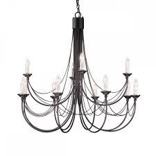 gothic black candelabra style 12 arm black chandelier
