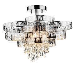 semi flush chandeliers uk