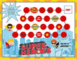 Kids Reward Chart Superhero Printable Behavior Chart