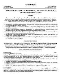 Resume Format For Quality Assurance