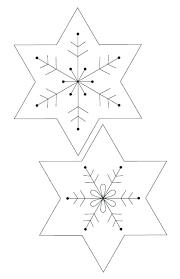 Blank Snowflake Template Snowflake Ornament Template