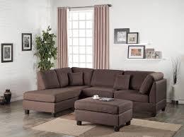 sectional sofa and ottoman set chocolate