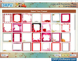 romantic photo frame maker by drpu software