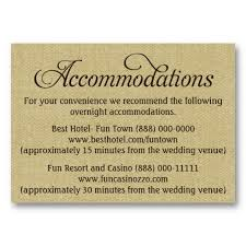 Hotel Accommodations Cards How To Word Accommodation Cards For Weddings Under