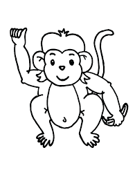 Monkey Color Coloring Pages Of Monkeys Coloring Pages Of Cute Baby