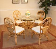 jupiter rattan dining set of round table 4 chairs by