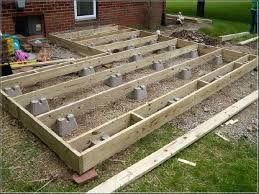 building a ground level deck how to build a deck frame on uneven ground round designs