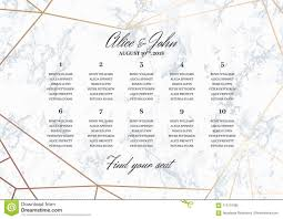 008 wedding seating chart poster template geometric design rose gold marble background dimensions horizontal format wondrous