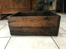 antique wooden crates milk for vintage crate ideas beer uk