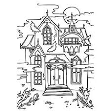 Coloring Pages Of Haunted Houses 14475