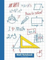 Math Notebook 1 2 Inch Squares Lined Graph Paper