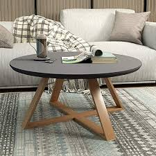 wood side table mini round small desk