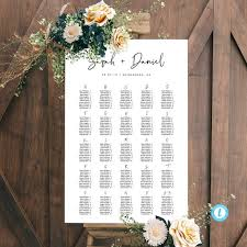 Etsy Wedding Seating Chart Alphabetical Alphabetical Seating Chart Template Download Modern Seating Plan Wedding Seating Chart Simple Printable Seating Editable Sign Templett 16