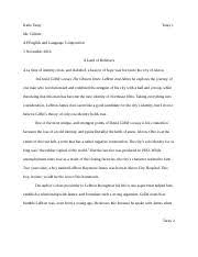 outliers essay katie taray taray mr gillette ap english 2 pages a land of believers