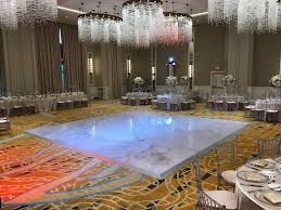 our fully customizable floor wraps can incorporate any initials logo or design a customized vinyl floor wrap for portable wedding floors is a