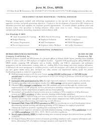 Resume Sample For Hr Manager. Human Resource Management