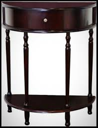 details about cherry wood end table half round storage drawer shelf living room side furniture