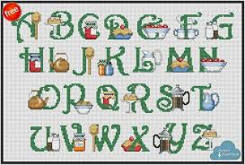 Alphabet Chart Pdf Download Kitchen Abc Cross Stitch Pattern Pdf Xsd Download