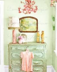 Shabby Chic Home Decor Shabby Bedroom A Shabby Chic Vignette Watercolor Fine Art Print