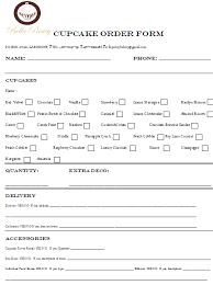Bakery Order Forms Cake Order Forms Printable Barca Fontanacountryinn Com